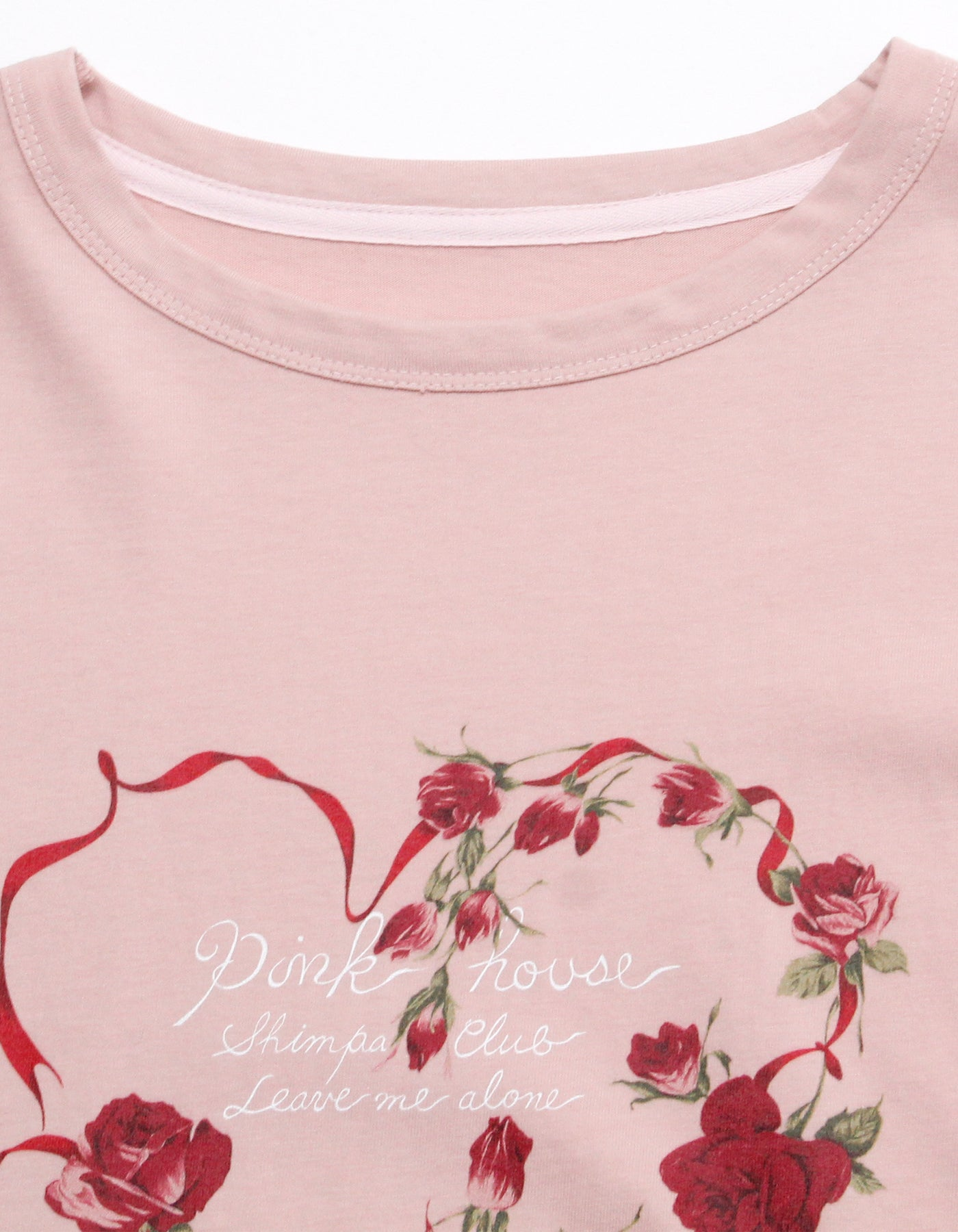 little sunny bite と pink house Rose heart long tee / PINK