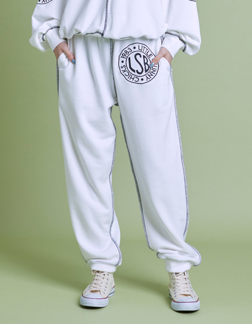 LSB sweat pants / WHITE
