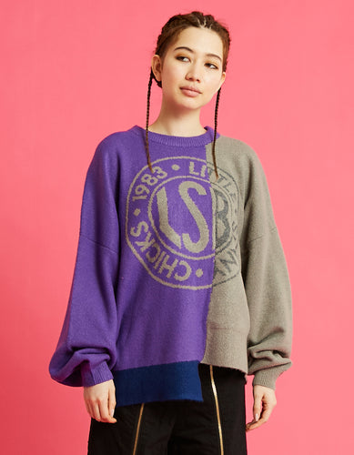 LSB logo knit / PURPLE