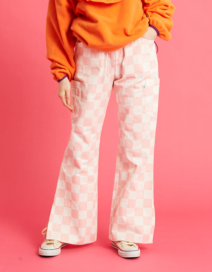 Checker pants / PINK