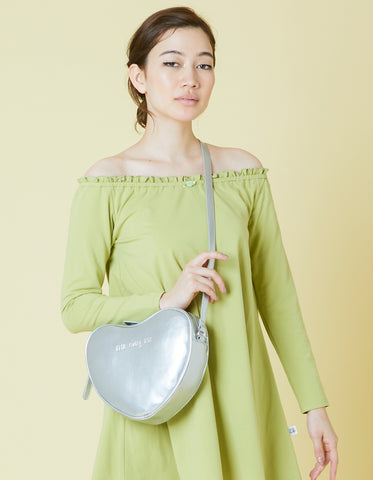 Heart shoulder bag / SILVER