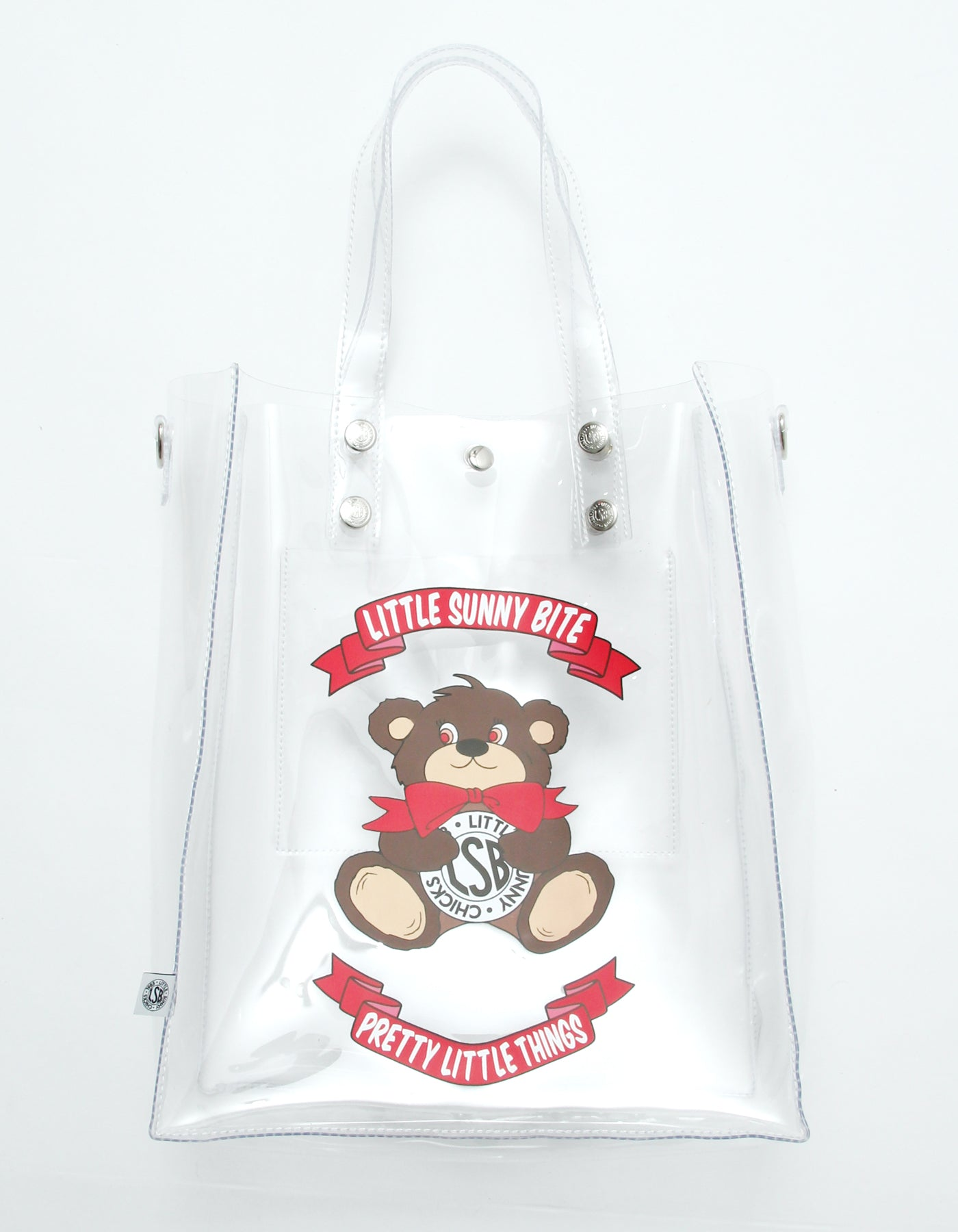 Cutie bear LSB logo pvc bag / CLEAR