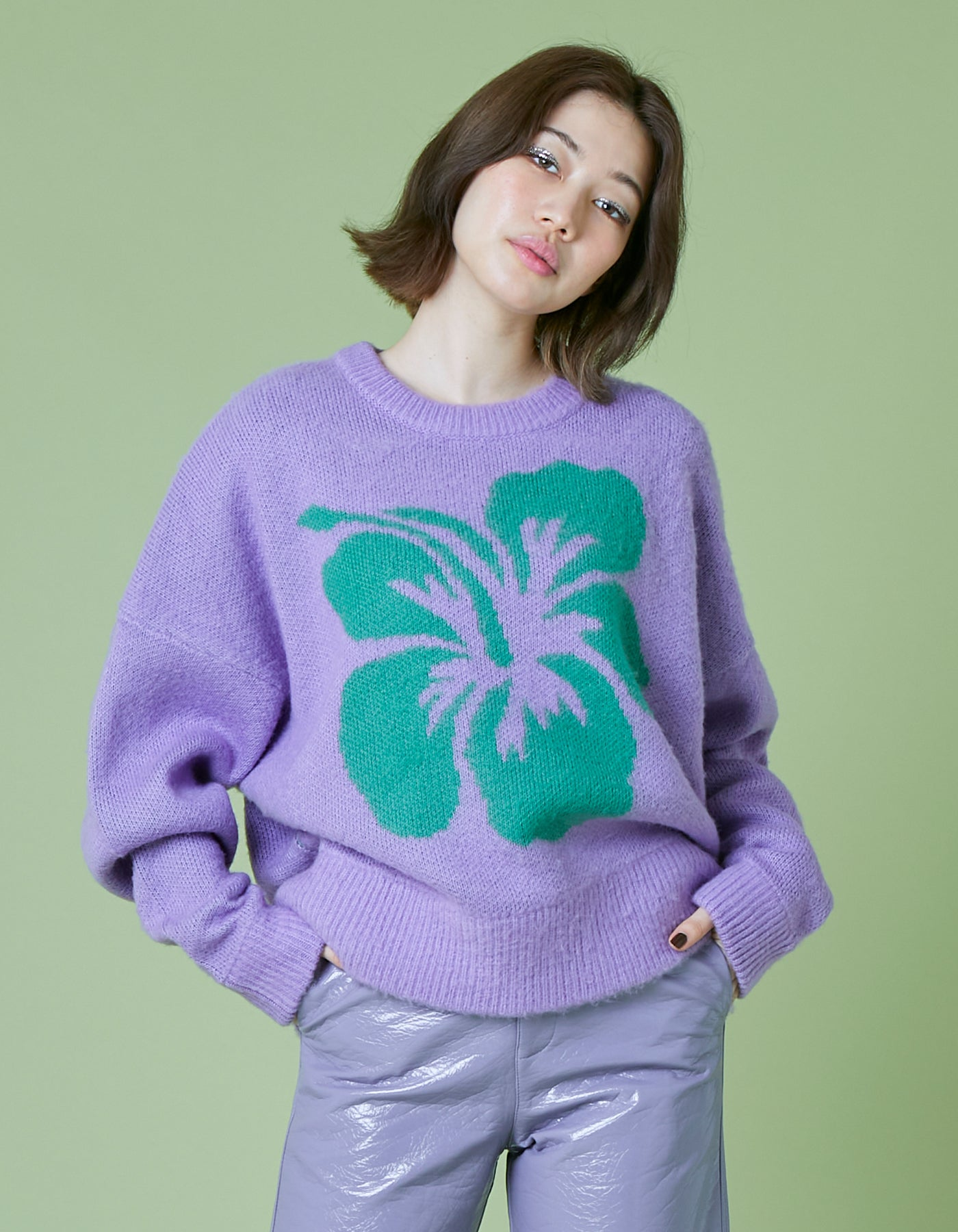 Hibiscus knit / PURPLE