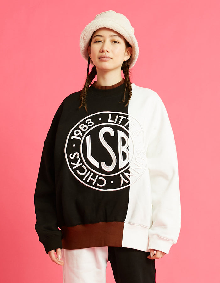 LSB logo sweat top / BLACK