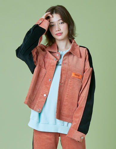 Universal overall x little sunny bite Corduroy jacket / PINK