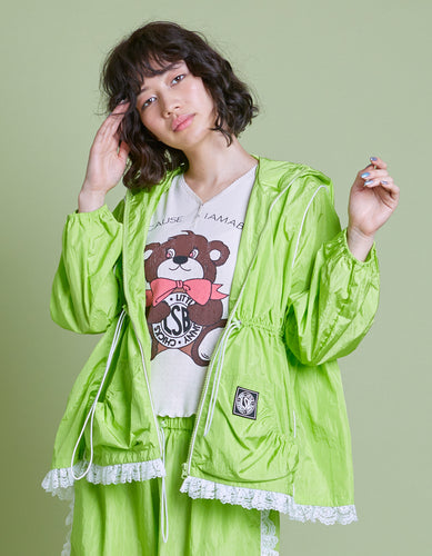 Nylon girly jacket / GREEN