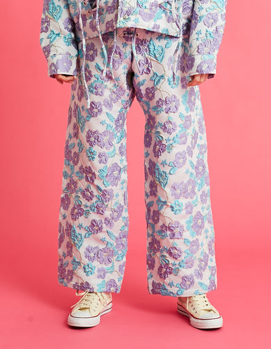 Flower pants / BLUE