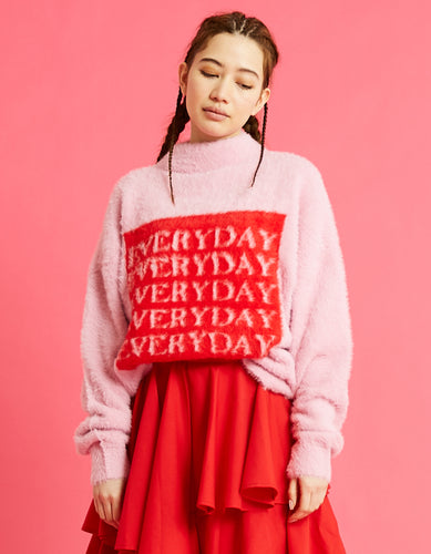 Everyday knit top / PINK