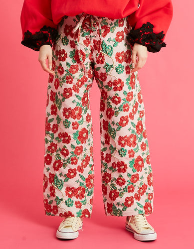 Flower pants / RED