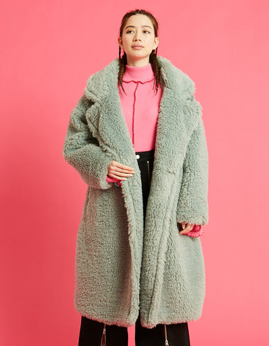 Big boa coat / GREEN