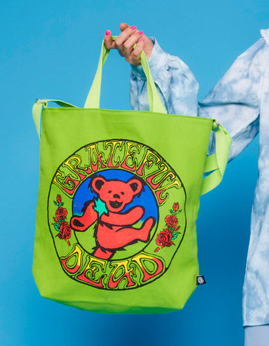Grateful dead x little sunny bite tote bag / GREEN