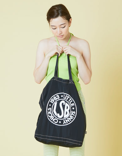 LSB logo nylon tote bag / BLACK