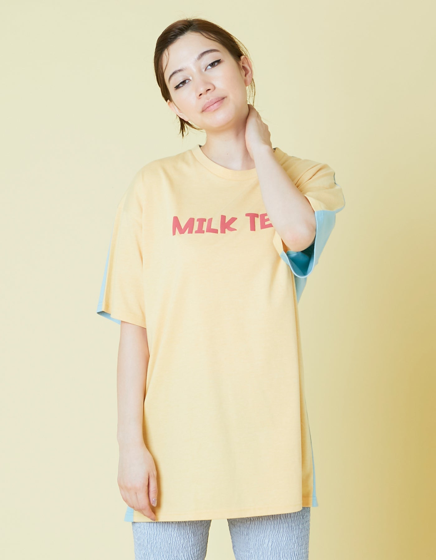 Milk tea tee / YELLOW×BLUE