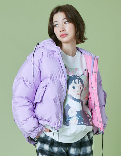 Short down jacket / PURPLE