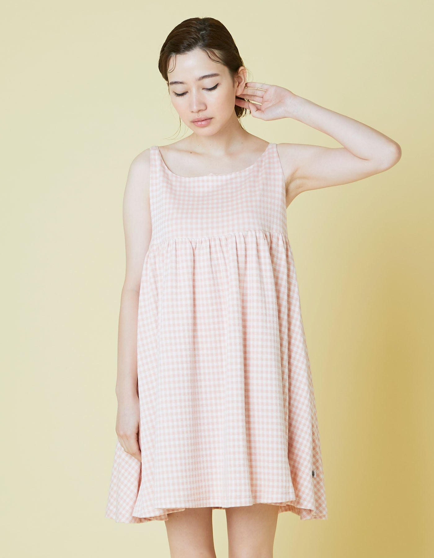 Check girly cami dress / PINK