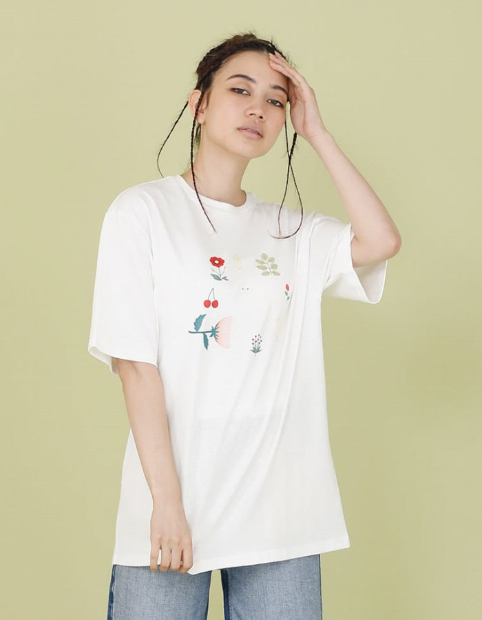 CLAP CLAP X LITTLE SUNNY BITE : ANIMALS TEE / WHITE