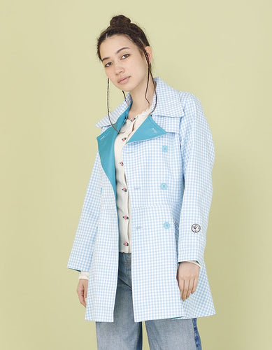 NYLON WAIST SHAPED REVERSIBLE JACKET / BLUE
