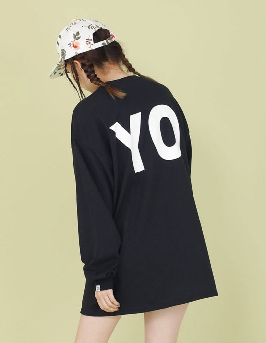 HEY YO LONG TEE / BLACK