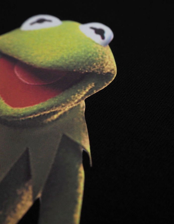BIG TEE / THE MUPPETS ( KERMIT ) / BLACK