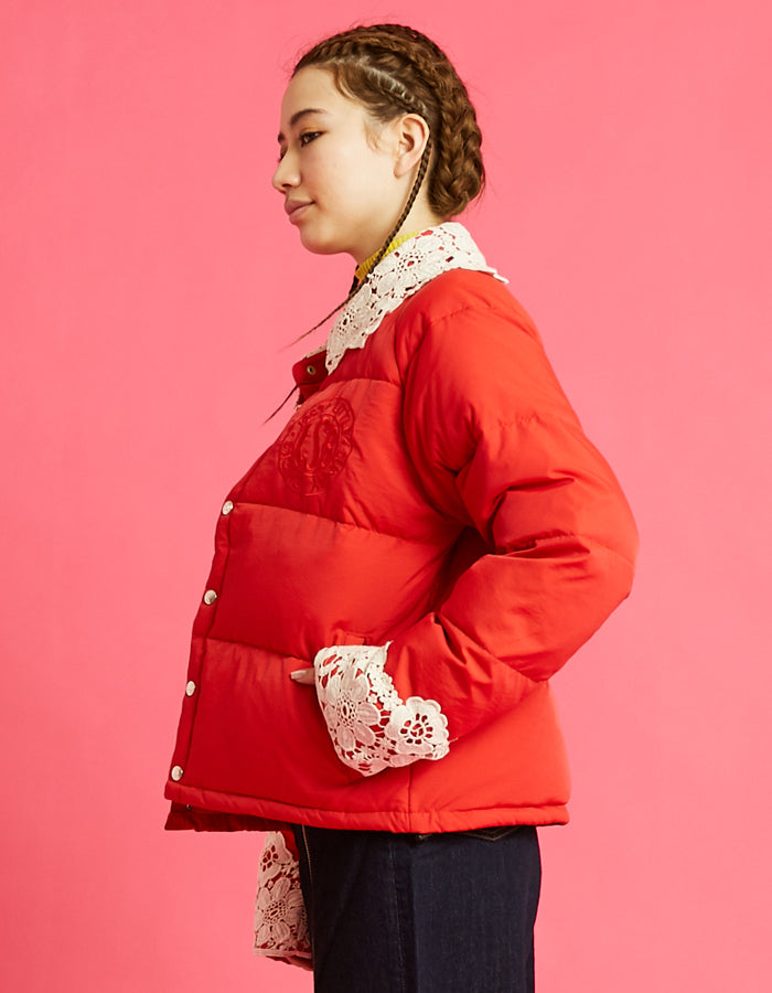 LSB logo down jacket / RED