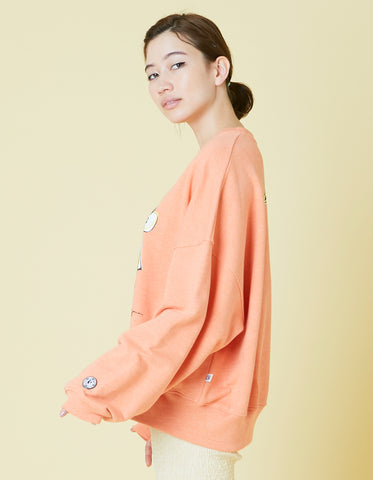 ogura akane x little sunny bite Bear sweat top / ORANGE