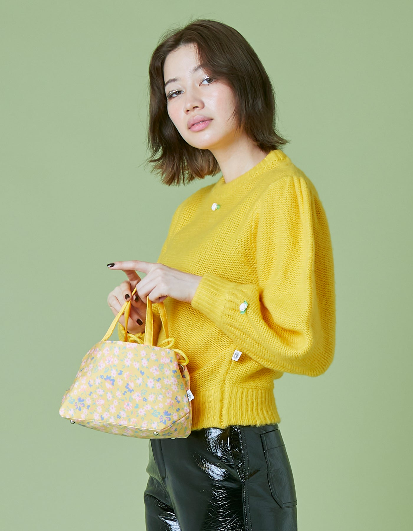 original floral 2way bag / YELLOW