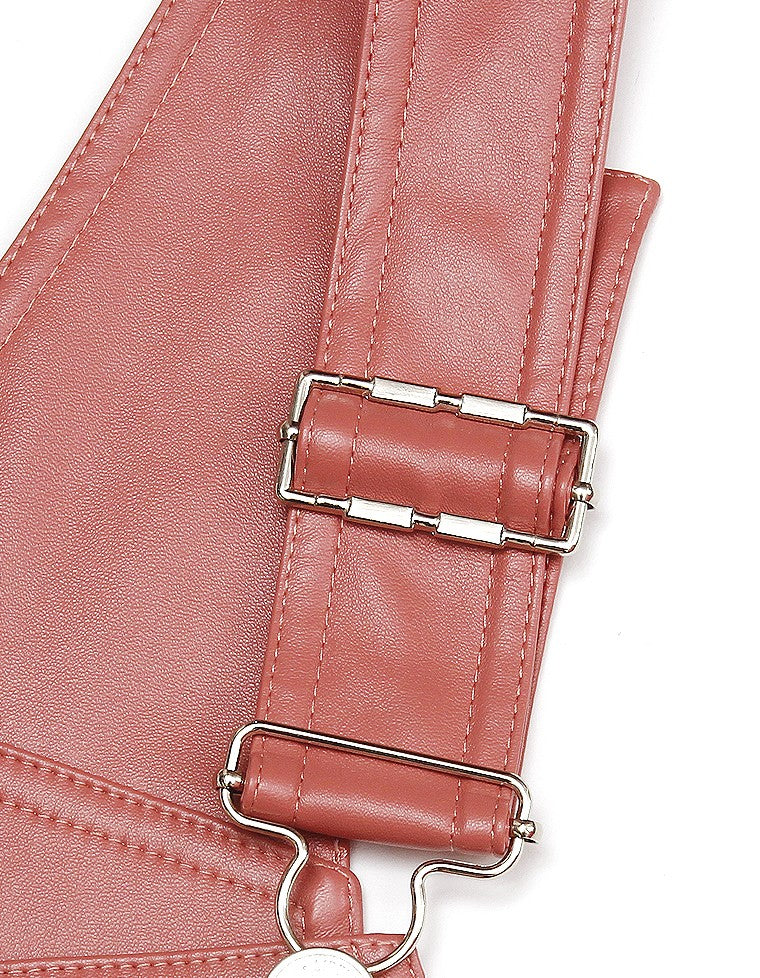FAKE LEATHER ALL IN ONE / PINK