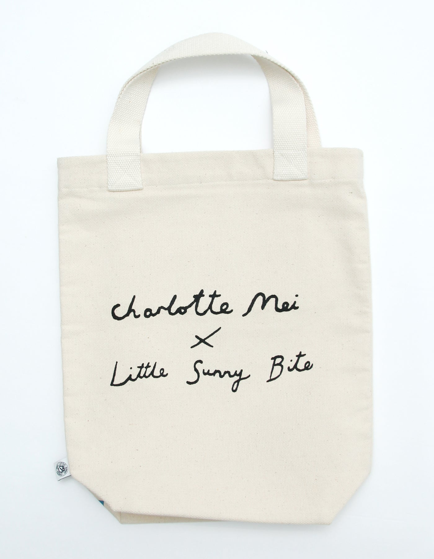 Charlotte mei x little sunny bite little girl tote bag / NATURAL