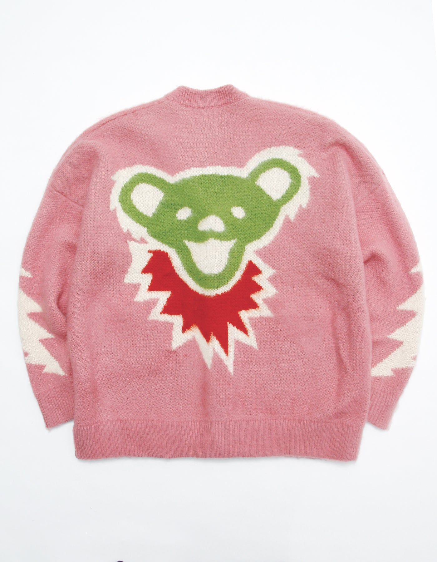 Grateful Dead x little sunny bite Knit cardigan / PINK