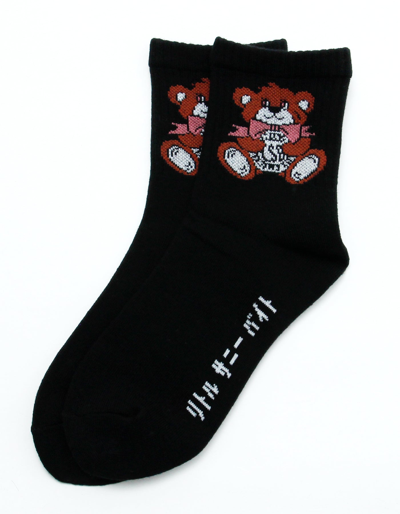 Cutie bear LSB logo socks / BLACK