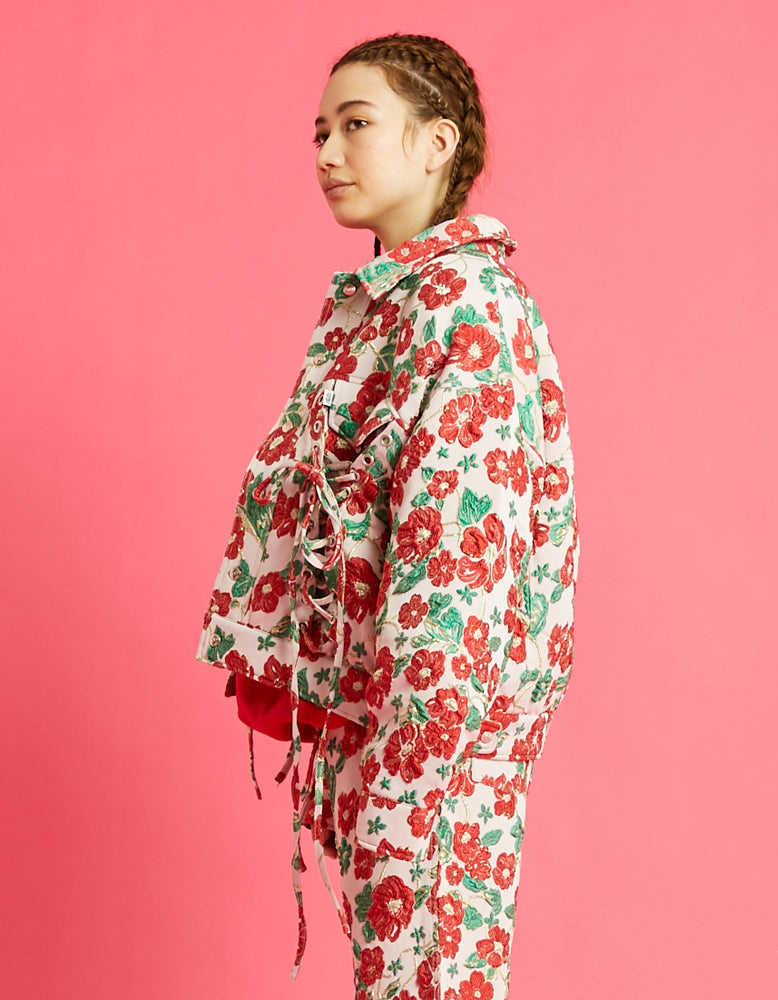 Flower jacket / RED