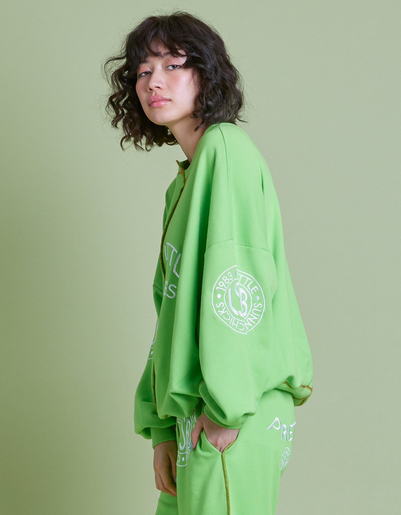 LSB sweat top / GREEN
