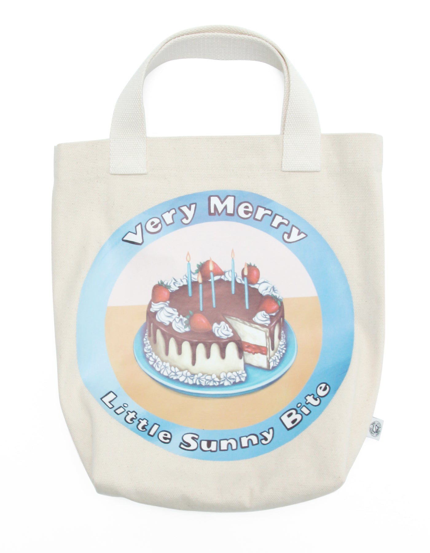 Very Merry little sunny bite tote bag / WHITE