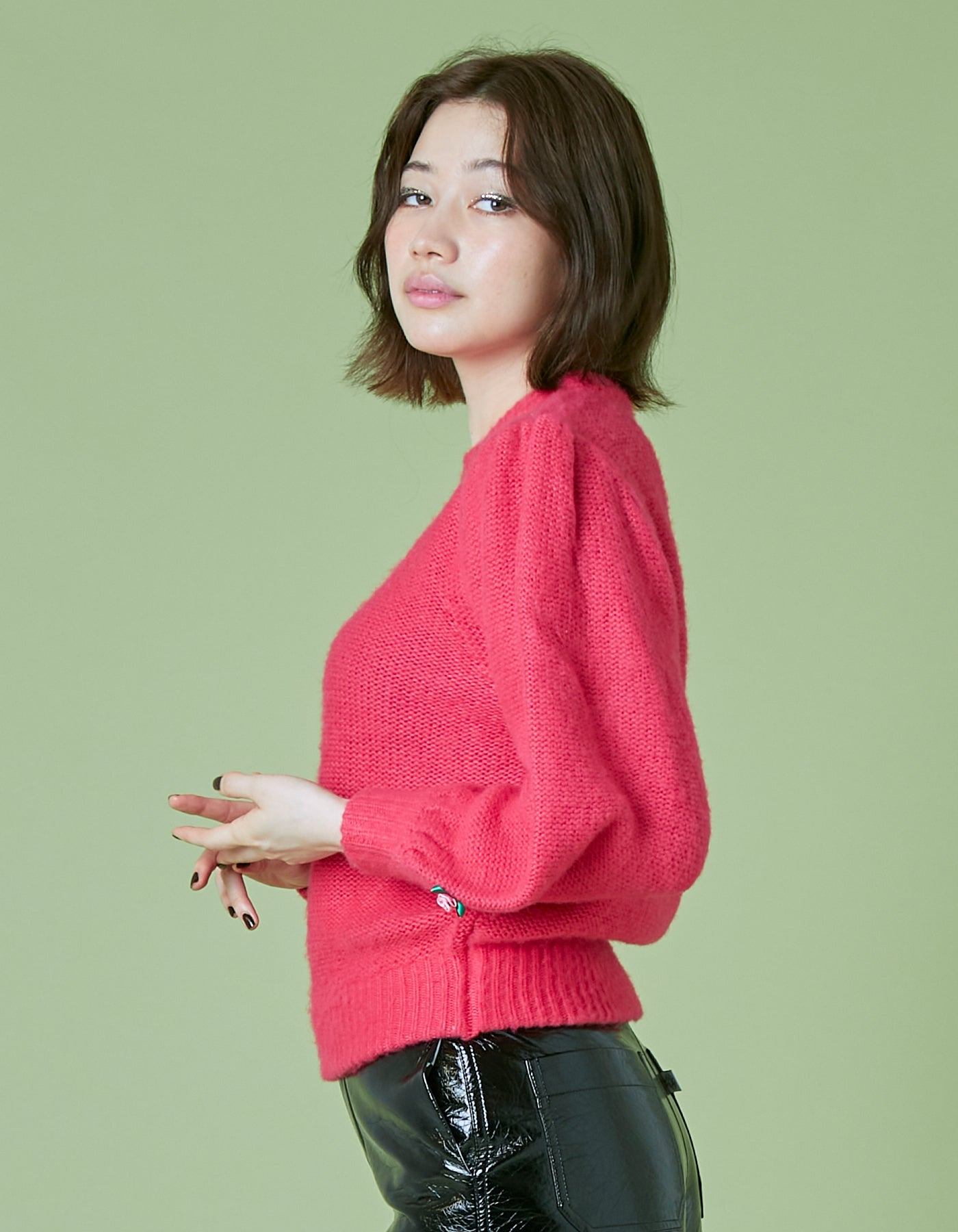 Mohair knit / PINK