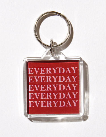 Everyday square key chain / WHITE