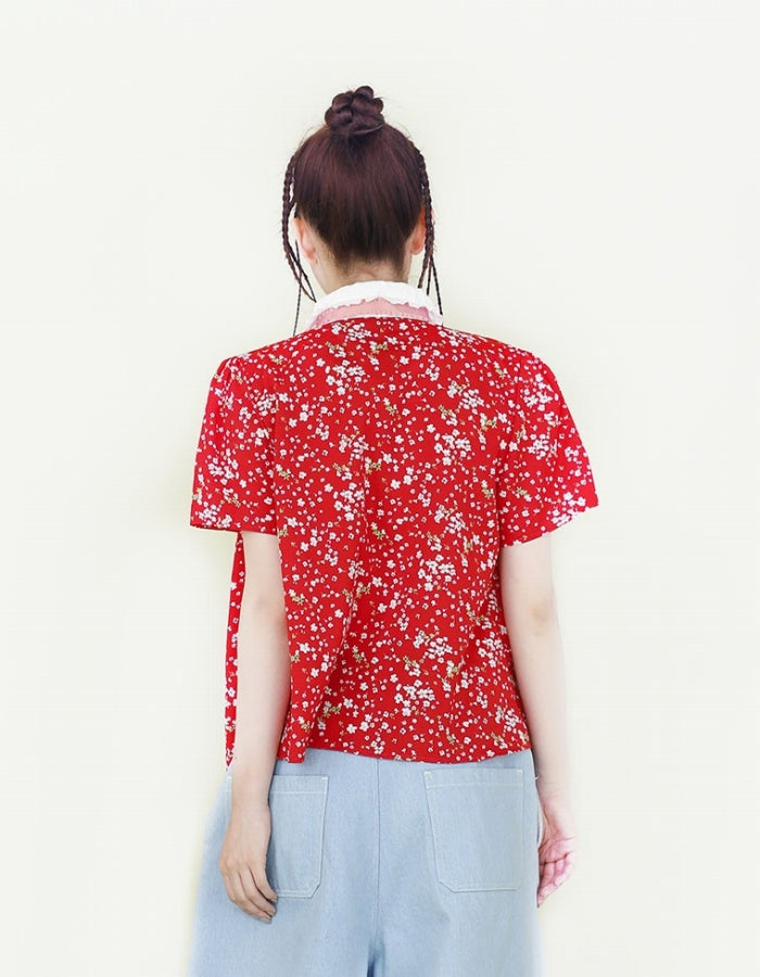 SISTER JANE : DITSY FLORAL SHIRT / RED