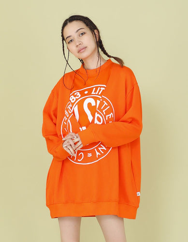 LAYERED SWEATER / ORANGE
