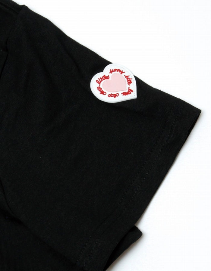 CLAP CLAP X LITTLE SUNNY BITE : STICHED FRILL TEE / BLACK