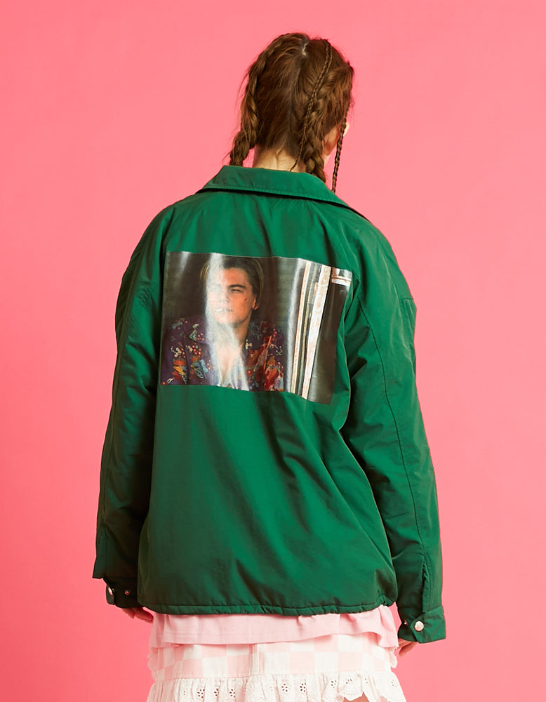 Romeo and juliet X LITTLE SUNNY BITE : Photo nylon jacket / GREEN