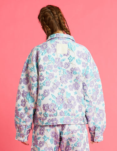 Flower jacket / BLUE