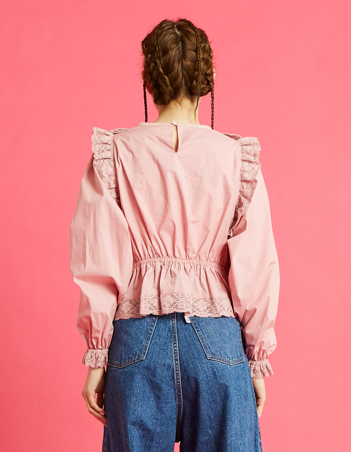 Lacy blouse / PINK