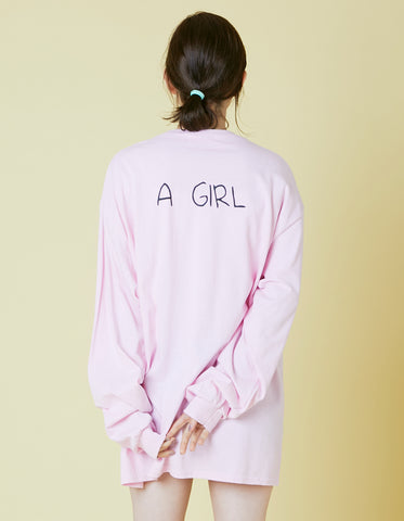 ogura akane x little sunny bite A girl long tee / PINK