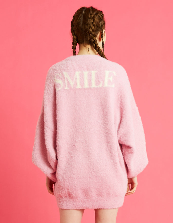 LSB smile big knit / PINK