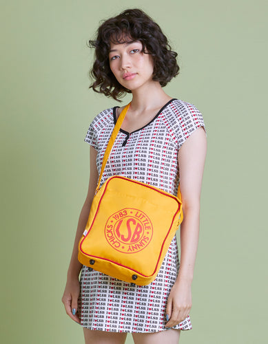 LSB Nylon logo shoulder bag / YELLOW