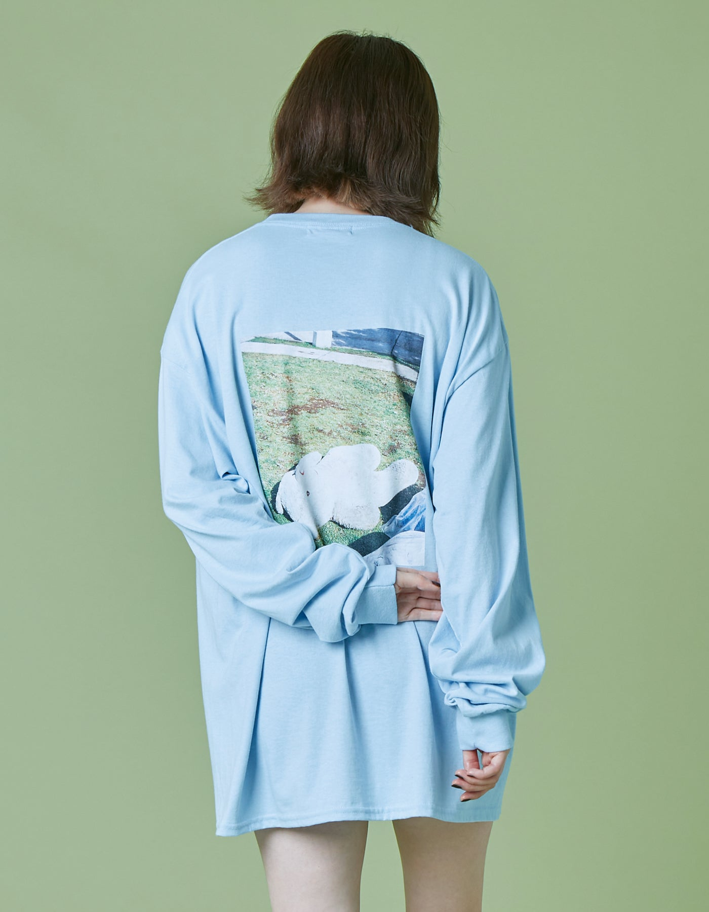 i miss you long tee / LIGHTBLUE