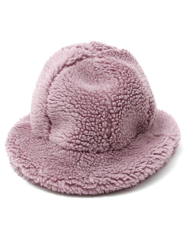 Winter boa hat / PURPLE