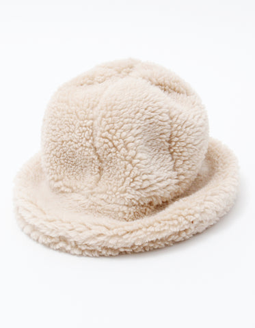 Winter boa hat / WHITE