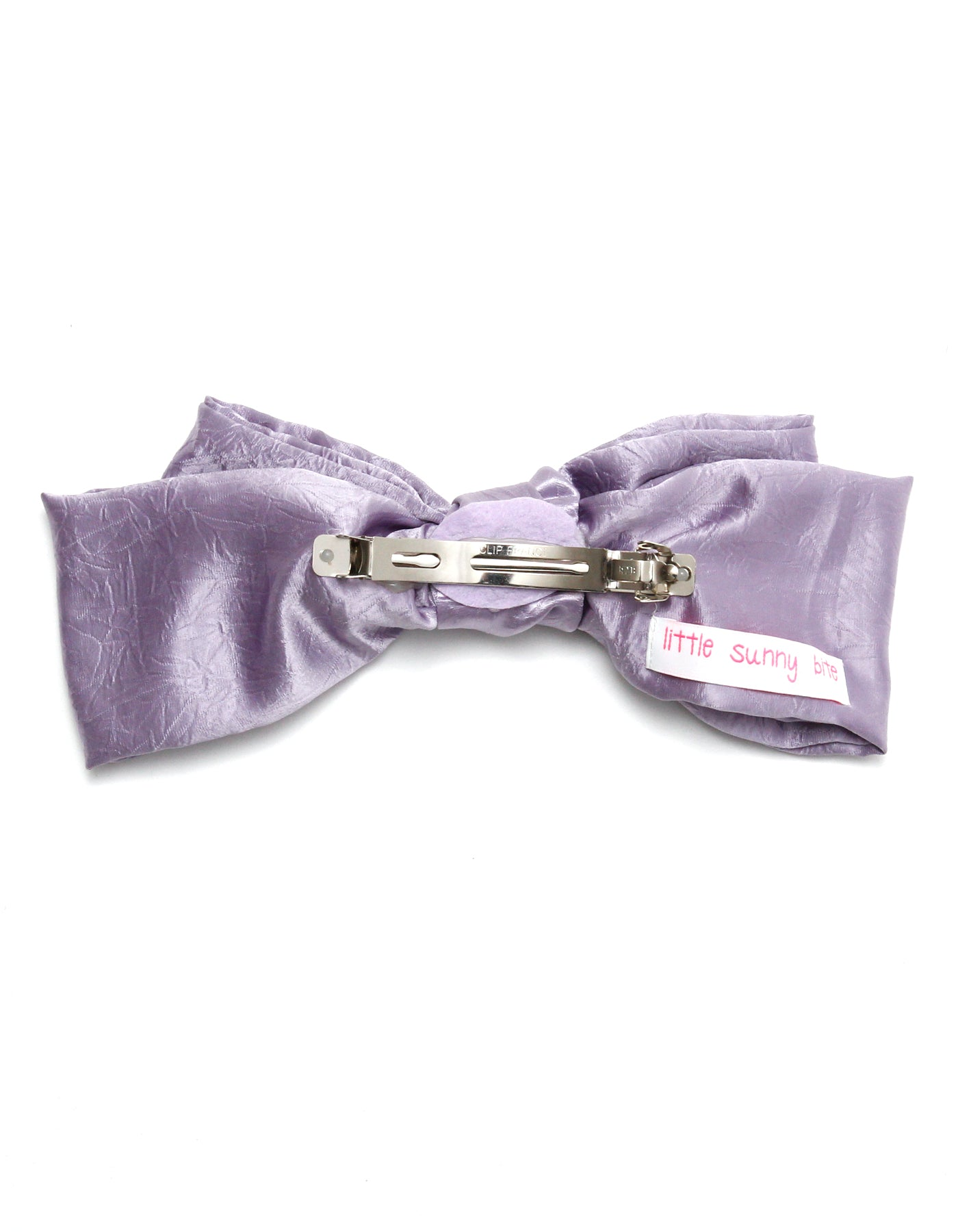 Satin ribbon hair accessory / PURPLE