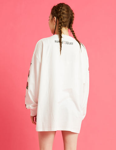 Romeo and juliet X LITTLE SUNNY BITE : Photo long tee rose sleeve / WHITE