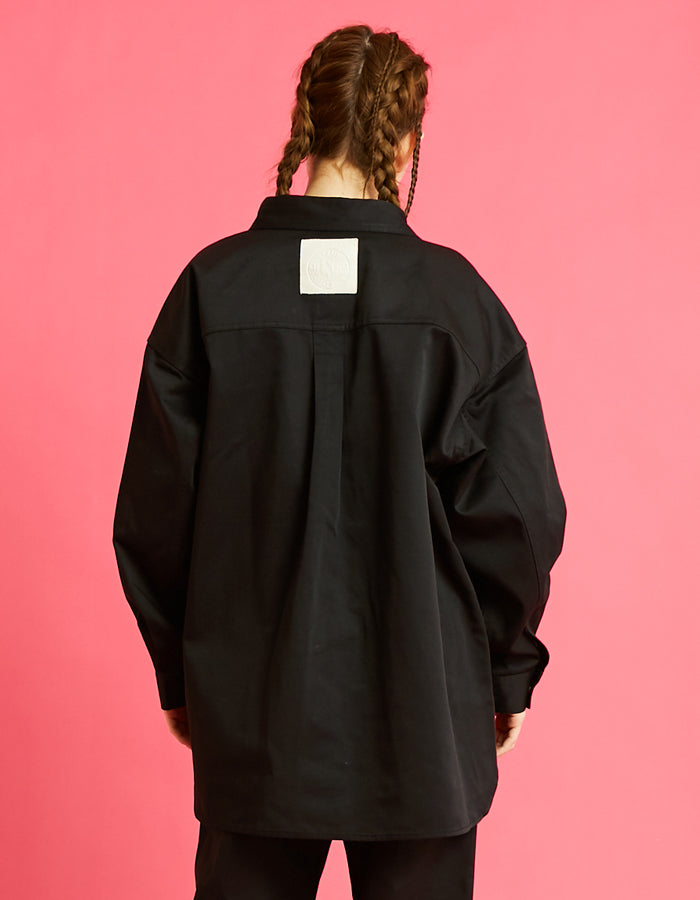 Dickes x little sunny bite shirts jacket / BLACK